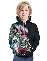 cheap -Kids Boys' Active Basic Color Block 3D Long Sleeve Hoodie & Sweatshirt Rainbow