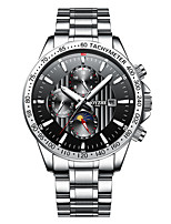 cheap -Men's Sport Watch Automatic self-winding Modern Style Sporty Stainless Steel Rubber Black / Silver 30 m Water Resistant / Waterproof Calendar / date / day Shock Resistant Analog Casual Outdoor -