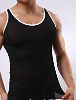cheap -Men's Asian Size Gender Neutral Round Neck Undershirt Color Block