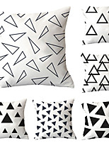 cheap -6 pcs Polyester Pillow Cover, Geometric Geometic Simple Classic Square Traditional Classic