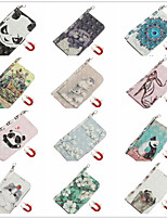 cheap -Case for Apple scene map iPhone 11 11 Pro 11 Pro Max 3D cartoon pattern shiny flip leather case PU material pluggable leather case phone case TX