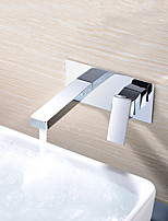 cheap -Bathroom Sink Faucet - Wall Mount Chrome Wall Mounted Single Handle One HoleBath Taps