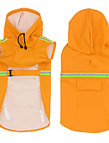 cheap -Pets Rain Coat Dog Clothes Yellow Pink Orange Costume Baby Pet Mixed Material Solid Colored Casual / Daily S M L XL XXL XXXL