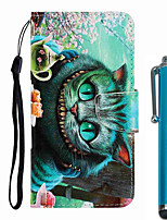 cheap -Case For Apple iPhone 11 / iPhone 11 Pro / iPhone 11 Pro Max Wallet / Card Holder / with Stand Full Body Cases Green-eyed Cat PU Leather / TPU for iPhone 7 / 7 Plus / 8 / 8 Plus / X / XS / XR / Xs Max