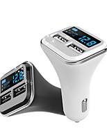 Недорогие -оригинальный 12v / 24v двойной usb автомобильное зарядное устройство 5v 2.4a выход с кабелем диагностики напряжения реального автомобиля бесплатно для iphone samsung xiaomi