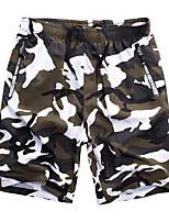 cheap -Men's Hiking Shorts Camo Outdoor Breathable Quick Dry Sweat-wicking Wear Resistance Shorts Bottoms Hunting Fishing Climbing Khaki Black / White L XL XXL XXXL 4XL Standard Fit