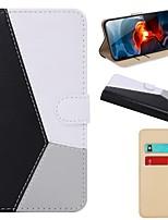 Недорогие -Кейс для Назначение SSamsung Galaxy S9 / S9 Plus / S8 Plus Кошелек / Бумажник для карт / со стендом Чехол Геометрический рисунок Кожа PU