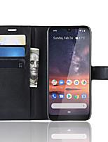 Недорогие -Naxtop TPU и PU кожаный бумажник флип-подставка чехол для телефона защитный с гнездом для карты наличными для Nokia 3.2 / Nokia 4.2