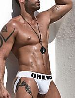 cheap -Men's Basic Briefs Underwear - EU / US Size Mid Waist Red Blue Royal Blue M L XL