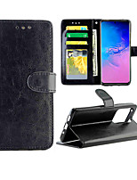 cheap -Case For Samsung Galaxy Samsung Galaxy A90(2019) / Samsung Galaxy A80 / A91 / M80S Card Holder / with Stand / Flip Full Body Cases Solid Colored PU Leather