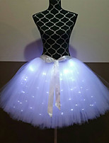 cheap -Princess Ballet Dancer Skirt Girls' Movie Cosplay A-Line Slip LED Red / Green / White Skirt Halloween Carnival Masquerade Tulle Polyester