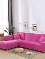 cheap -Nordic Simple Plain Color Elastic Sofa Cover Single Double Three Person Sofa Cover Rose Red