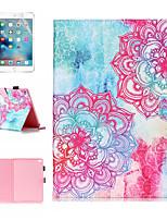 Недорогие -кейс&1 стилус&Усилитель 1шт. Защитная пленка для Apple Ipad Air / Ipad (2018) / Ipad Air 2 / Pro 9,7 с подставкой / флип / ультратонкий задняя крышка градиент / цветок искусственная кожа
