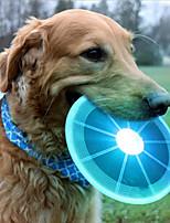 Недорогие -Летающие тарелки Собаки Маленькие зверьки Животные Игрушки 1шт Подходит для домашних животных Сверкающий Кожа PU Подарок