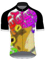 Недорогие -21Grams Муж. С короткими рукавами Велокофты Черный / желтый Горошек Лягушка Смешной Велоспорт Джерси Верхняя часть Горные велосипеды Шоссейные велосипеды Устойчивость к УФ Дышащий Быстровысыхающий