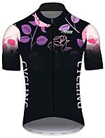 Недорогие -21Grams Муж. С короткими рукавами Велокофты Черный / красный Велоспорт Джерси Верхняя часть Горные велосипеды Шоссейные велосипеды Устойчивость к УФ Дышащий Быстровысыхающий Виды спорта Одежда