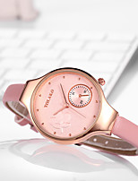 cheap -Women's Quartz Watches Casual Fashion White Red Grey PU Leather Chinese Quartz Purple Blushing Pink Red Casual Watch 1 pc Analog One Year Battery Life