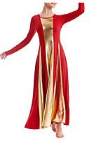 cheap -Ballroom Dance Dress Pleats Women's Performance Long Sleeve Elastane