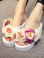 cheap -Women's Sandals Wedge Sandals Platform Sandal Summer Platform Open Toe Daily PU White / Black / Red