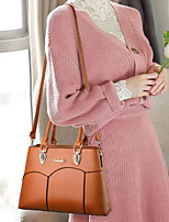cheap -Women's PU Top Handle Bag Solid Color Wine / Yellow / Blushing Pink