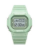 Недорогие -Универсальные электронные часы Цифровой Спортивные Стильные Черный / Белый / Зеленый 30 m Календарь будильник Фосфоресцирующий Цифровой На каждый день Цветной - Розовый Зеленый Белый / Два года