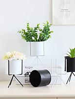 Недорогие -1 шт. Железный штатив ведро завод цветочный горшок плантатор домашний офис настольный декор