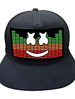 Недорогие -Oval Shape Светодиодная шляпа Ночные светильники Портативные / обожаемый / Управление голосом Аккумуляторы AAA 1шт