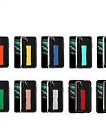 Недорогие -iphone11pro макс прозрачный сплошной цвет кольца король чехол для мобильного телефона хз макс силиконовый анти-падение xr защитный чехол