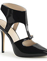 cheap -Women's Heels Stiletto Heel Pointed Toe PU Minimalism Spring & Summer Black / Gray / Party & Evening
