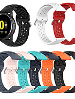 cheap -Breathable Silicone Sport Strap For Samsung Galaxy Watch 42mm/active/active2/Gear Sport /S2 classic