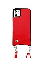 Недорогие -Кейс для Назначение Apple iPhone 11 / iPhone 11 Pro / iPhone 11 Pro Max Защита от удара Кейс на заднюю панель Плитка Кожа PU / ТПУ