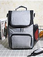 cheap -Unisex Zipper PU Top Handle Bag Color Block Purple / Green / Blue