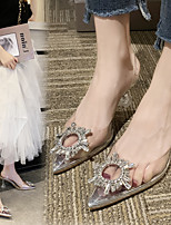 cheap -Women's Sandals 2020 Stiletto Heel Pointed Toe Sequin PVC Sweet / Minimalism Walking Shoes Spring & Summer Silver