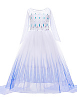 cheap -Frozen Princess Dress Girls' Movie Cosplay Halloween Christmas White Dress Christmas Halloween