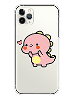 cheap -Case For Apple iPhone 11/11 Pro/11 Pro Max/XS/XR/XS Max/8 Plus/7 Plus/6S Plus/8/7/6/6s/SE/5/5S Transparent Pattern Back Cover Pink Disdain expression Soft TPU