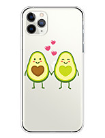cheap -Case For Apple iPhone 11/11 Pro/11 Pro Max/XS/XR/XS Max/8 Plus/7 Plus/6S Plus/8/7/6/6s/SE/5/5S Transparent Pattern Back Cover Lovers Avocado Soft TPU