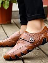 cheap -Men's Summer Outdoor Oxfords PU Non-slipping Black / Brown