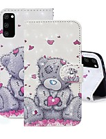 cheap -Case For Samsung Galaxy A91 / M80S / Galaxy A81 / M60S / S20 Plus Wallet / Rhinestone / with Stand Full Body Cases Panda PU Leather For Samsung Galaxy S20 Ultra/A01/A11/A21/A41/A70E