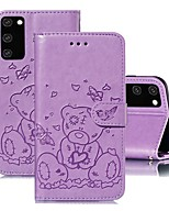 cheap -Case For Samsung Galaxy A51/Galaxy S20 Ultra/Galaxy Note 10 Plus Wallet / with Stand / Embossed Full Body Cases Solid Colored PU Leather For Galaxy A71/A01/A21/A81/A91/A10S/A20S/A30S/A50S/A50/A70