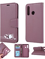 cheap -Case For Huawei P Smart 2019/P20 Pro/P30 Wallet / Card Holder / with Stand Full Body Cases Cat / Solid Colored PU Leather For Huawei Y6 2019/Y7 2019/Honor 8A/10 Lite/Honor 20 Pro/P30 Lite