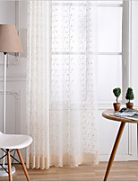 cheap -Two Panel American Style Golden Embroidered Screen Curtain Semi-Transparent Living Room Bedroom Children's Room Window Screen