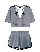 cheap -Inspired by My Hero Academia Boko No Hero Bakugou Katsuki Cosplay Costume Outfits Polyster Print Printing Shorts For Men's / Women's / T-shirt