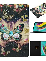 cheap -Case For Samsung Galaxy Tab A 10.1(2019)T510/Tab A 8.0(2019)T290/295 /Tab S6 T860/865 Card Holder / with Stand/Pattern Full Body Cases Butterfly PU Leather For Tab S6lite P610/P615/Tab S5E T720