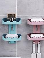 Недорогие -мыльница коробка стенка Zeep Houder душ держатель для мыла для ванной двухслойная корзина для хранения мыльница полка кухонный инвентарь