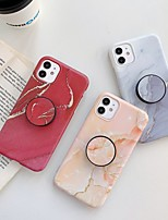 cheap -Case for Apple scene map iPhone 11 11 Pro 11 Pro Max X XS XR XS Max 8 Colorful marble pattern fine matte TPU material IMD process folding bracket all-inclusive mobile phone case LX