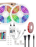 cheap -LED Light Strips WiFi Wireless RGB Tiktok Lights LED Smart Light waterproof 5050 600LEDs 10M With 24 Keys Remote Control Flexible Tape Lights Fits AlexaGoogle Home and 12V power adapter