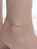 cheap -Anklet Elegant Trendy Ethnic Women's Body Jewelry For Date Birthday Party Alloy Wedding Friends Gold Silver 1 Piece