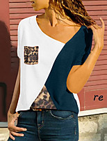 cheap -Women's Color Block T-shirt Daily Weekend White / Blue / Red / Yellow
