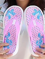 cheap -Women's Slippers & Flip-Flops Summer Flat Heel Open Toe Minimalism Daily Color Block Synthetics Black / Purple / Red
