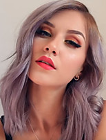 cheap -Synthetic Wig kinky Straight Asymmetrical Wig Long Silver grey Synthetic Hair 18 inch Women's Women Easy dressing Highlighted / Balayage Hair Silver